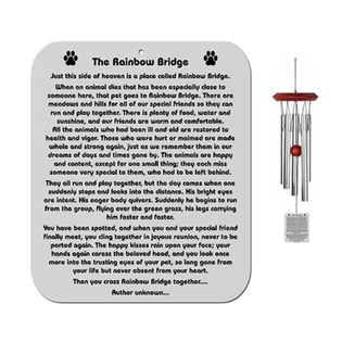Rainbow Bridge Poem Wind Chimes For Dogs