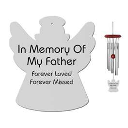 Memorial Wind Chimes for Father, Angel Wind Chimes, Loss of Father