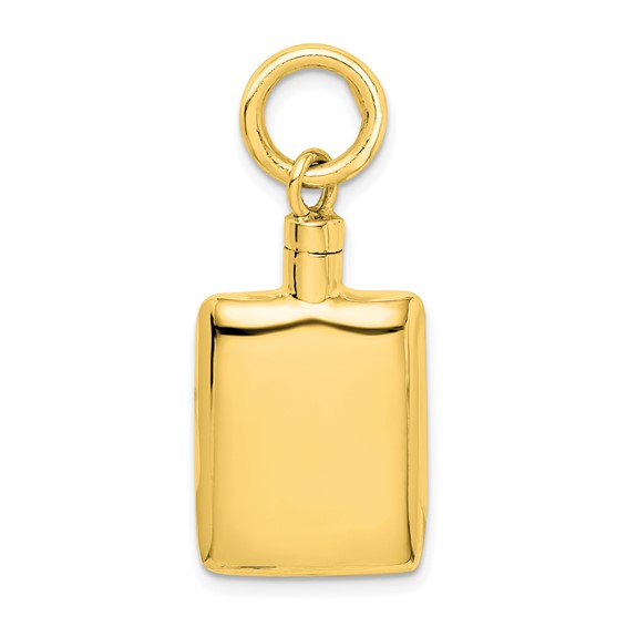 Rectangular Urn Pendant for Ashes- Sterling Silver Gold Plated