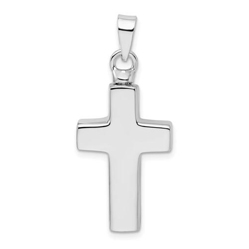 Enameled Cross Urn Pendant for Ashes- Sterling Silver