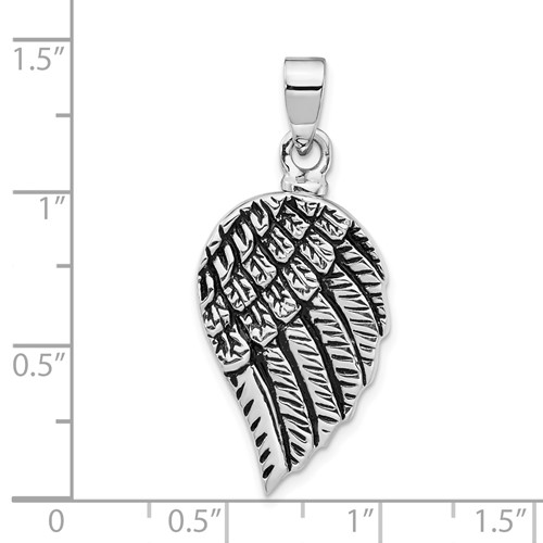 Enameled Angel Wing Urn Pendant for Ashes- Sterling Silver