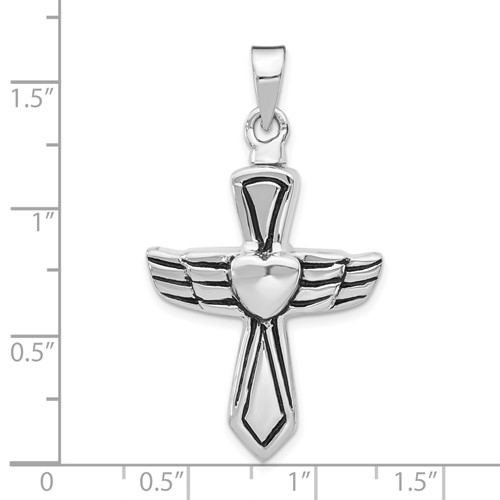 Cross Urn Pendant for Ashes - Sterling Silver