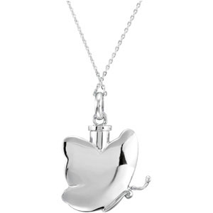 Butterfly Ashes Necklace in Sterling Silver