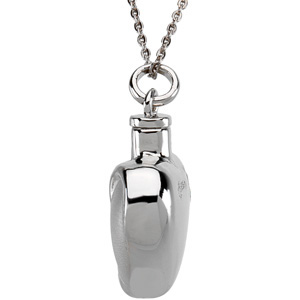Fancy Heart Cremation Ash Holder Pendant & Chain - Free Shipping