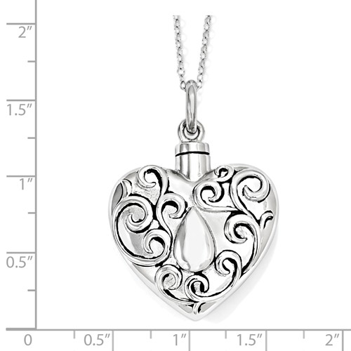 The Grieving Heart Cremation Necklace - Free Shipping