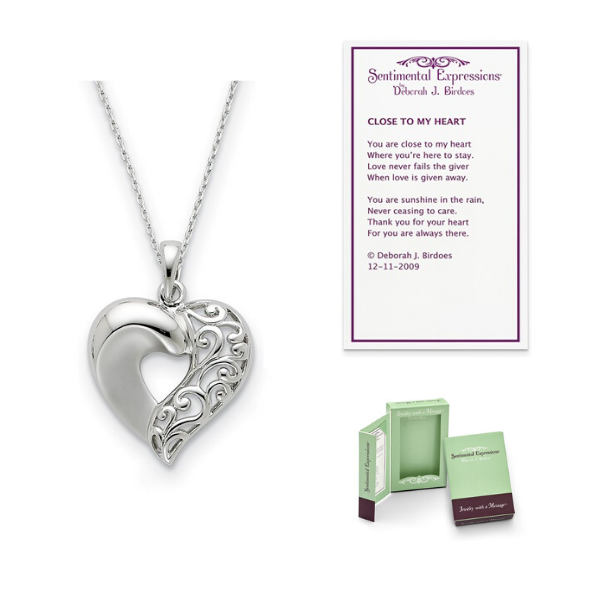 Close to My Heart Sterling Silver Remembrance Necklace - 30% Off Now