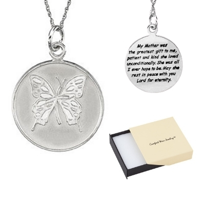 Comfort Wear Jewelry - Memorial Necklace for Mom Loss