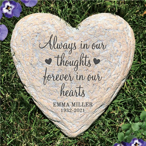 Always In Our Thoughts Memorial Garden Stone