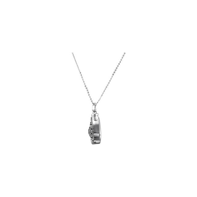 Birthstone Tear Cremation Ashes Pendant - Sterling Silver Necklace for Ashes