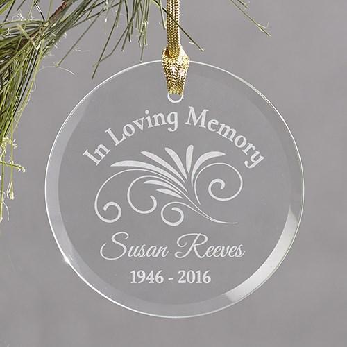 In Loving Memory Christmas Memorial Ornament