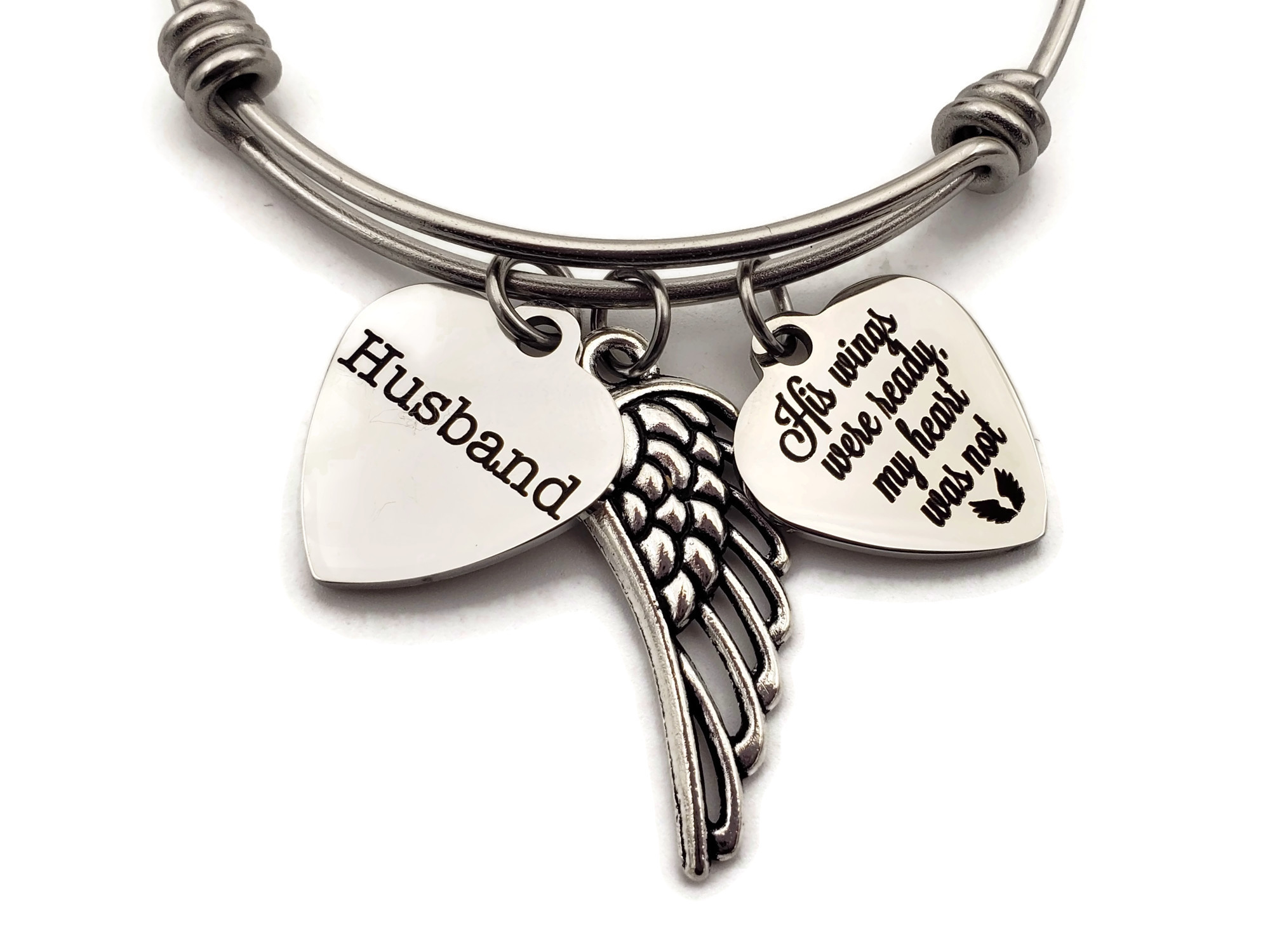 Remembrance Bracelet Husband Loss - Memorial Gifts for Loss of Husband - Free Shipping