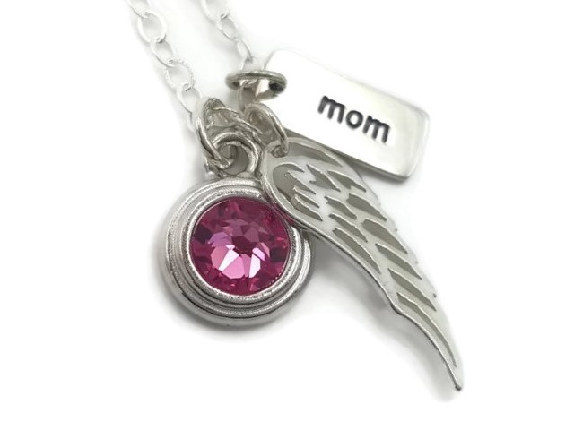 Remembrance Necklace for Loss of Mother - Free Shipping