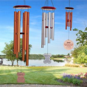 Cardinal Memorial Wind Chimes - Personalized Memorial Wind Chimes