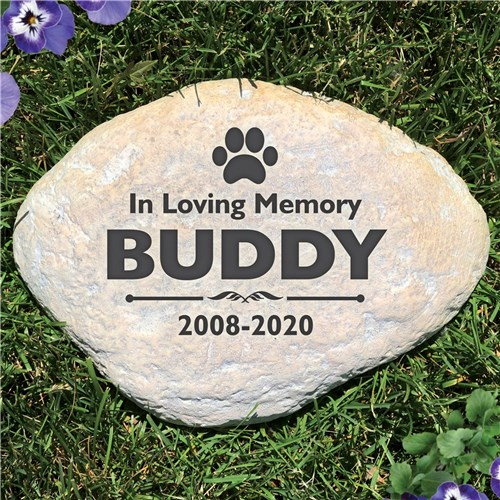 Personalized Pet Memorial Garden Stone - In Loving Memory - Free Shipping