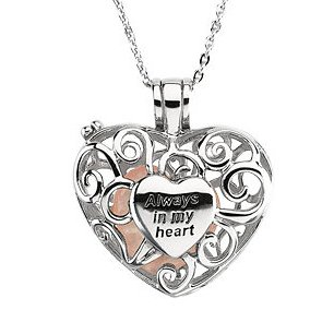 I Carry You In My Heart Always Necklace - Memorial Necklace