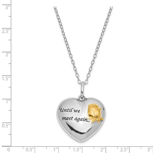 """Until We Meet Again Sterling Silver Ash Holder Necklace - 18"""" Chain - Now 30% Off"""