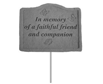 Pet Memorial Garden Stake In Memory Of