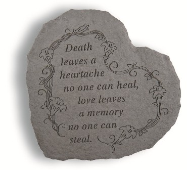 Death Leaves Heartful Thoughts Memorial Garden Stone