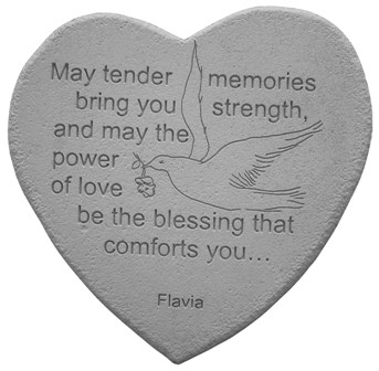 May Tender Memories Heartfelt Stones, Memorial Garden Stones