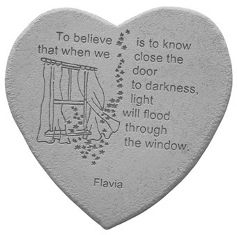 To Believe Heartfelt Memorial Garden Stone