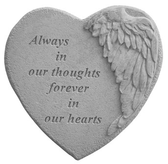 Always in Our, Winged Hearts, Garden Memorial Stone