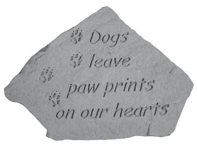 Dogs Leave Pawprints, Pet Memorial Stone - Pet Memorial Gift Ideas