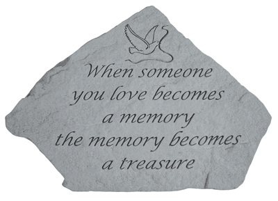 When Someone You Love, Garden Accent, Memorial Garden Stone
