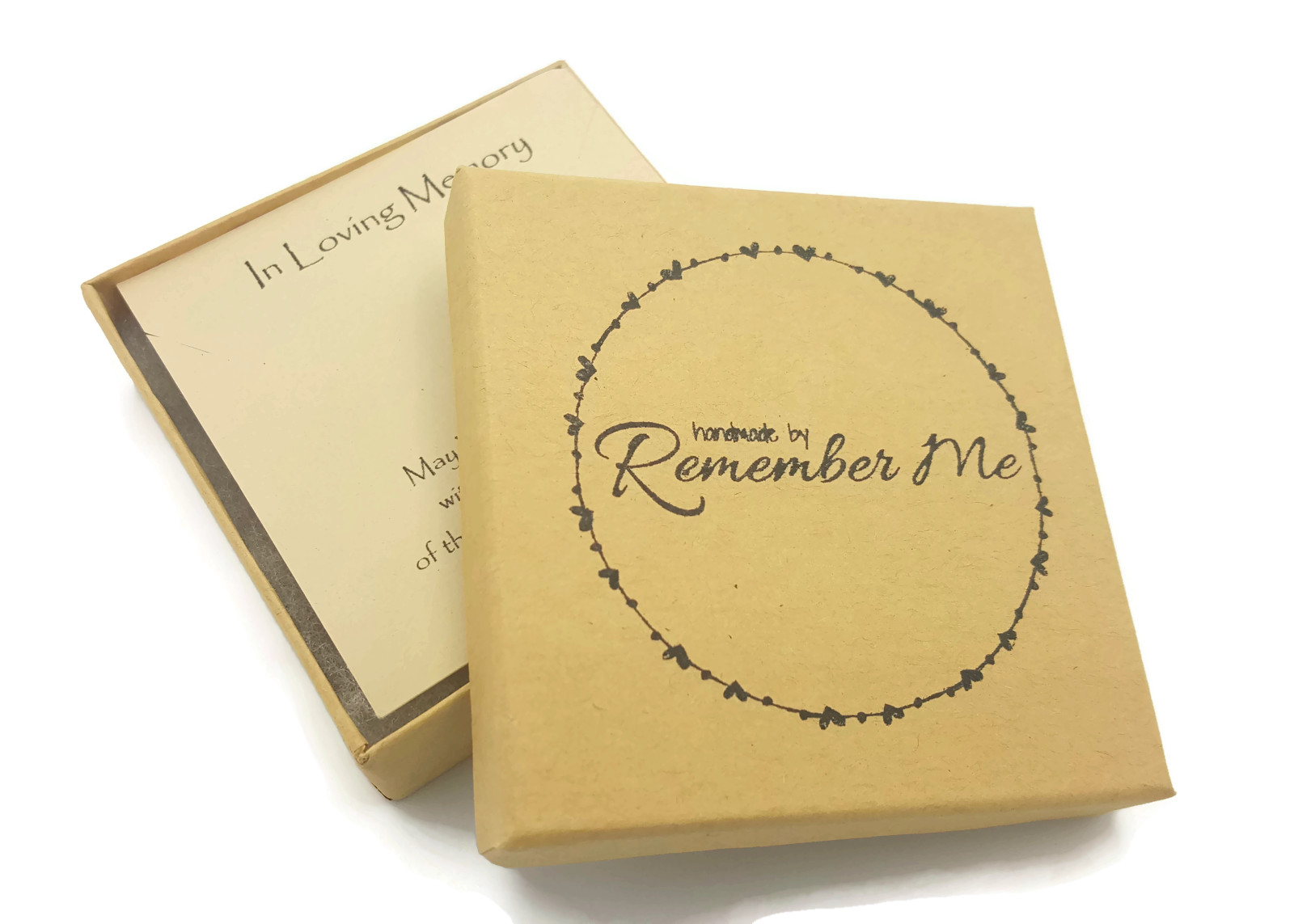 Loss of Mom Memorial Necklace - Hand Stamped with Message