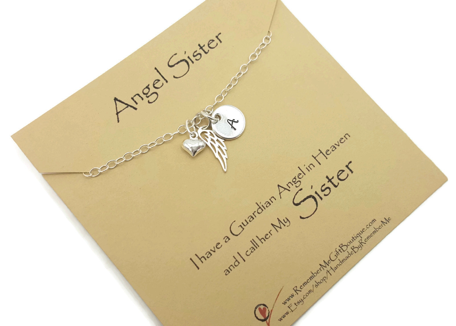 Memorial Necklace for Loss of Sister Personalized