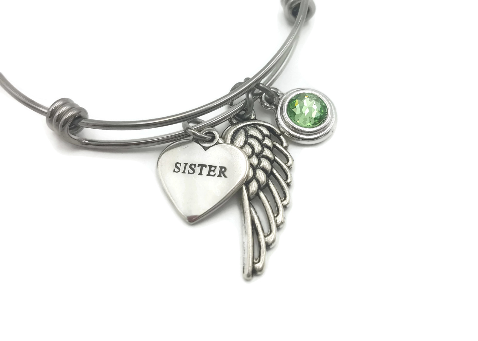 In Memory of Sister Memorial Bracelet - Memorial Gift Idea - Free Shipping