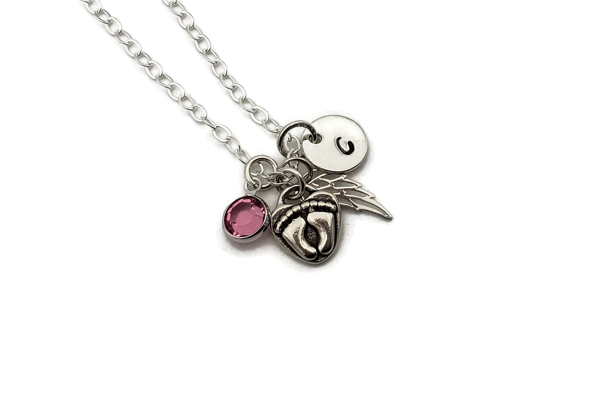 Mommy of an Angel Personalized Hand Stamped Necklace - Free Shipping
