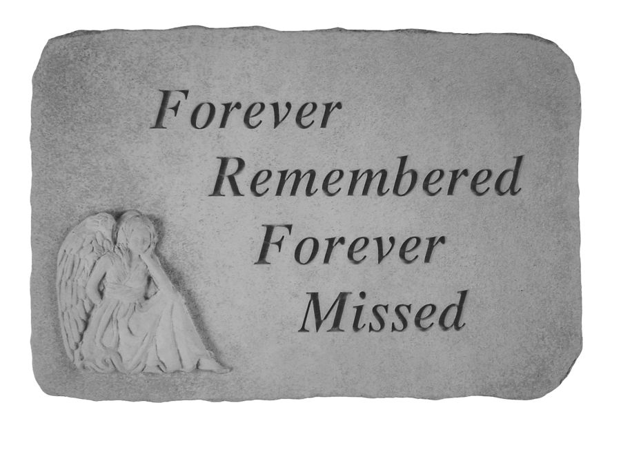 Forever Remembered, Angel Stones, Memorial Garden Stones