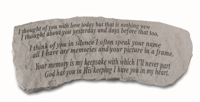 I Thought Of You Today Memorial Bench