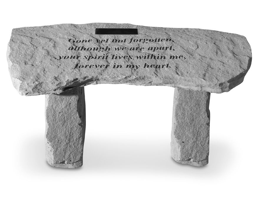 Personalized Gone Yet Not Forgotten Memorial Bench