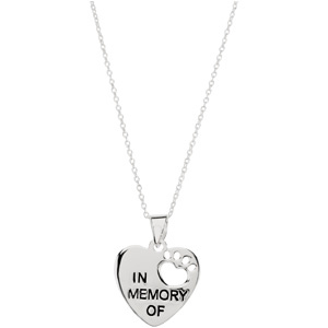 Heart U Back In Memory Pendant with Chain - Pet Memorial Jewelry