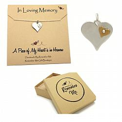Sterling Silver Heart Remembrance Necklace - Memorial Gift Idea