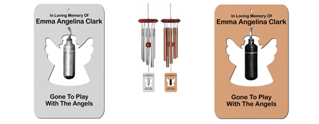 Angel Memorial Urn Wind Chimes, Angel Wind Chimes, Remember Me Wind Chimes