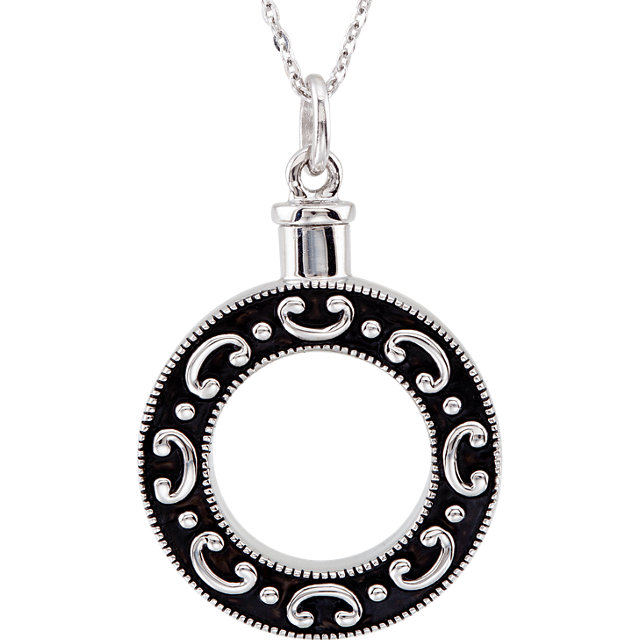 Sterling Silver Celebration of Life Cremation Necklace - Free Shipping