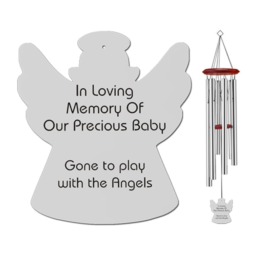 Young Child Angel Memorial Wind Chimes Memorial Gift
