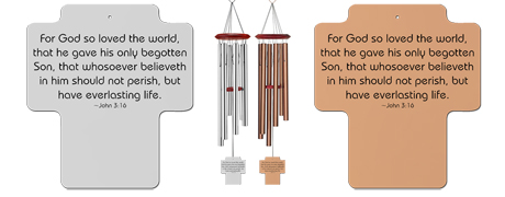 John 316 - Memorial Holy Cross Wind Chimes
