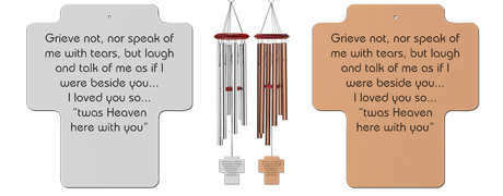 Grieve Not Remembrance Wind Chimes - Sympathy Gifts for Men - Remember Me