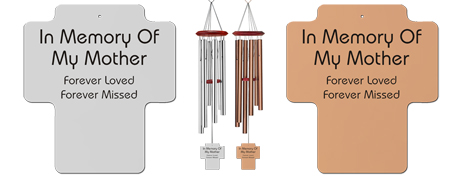Mother - Memorial Holy Cross Wind Chimes