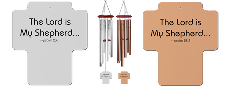 Psalm 231 - Holy Cross Personalized Memorial Wind Chime