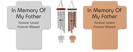 Memorial Wind Chimes for Father - Remembrance Wind Chimes - Holy Cross