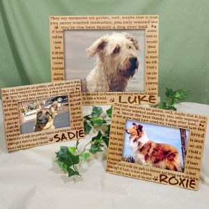 personalized pet memorial picture frame - Dog Memorial Frame