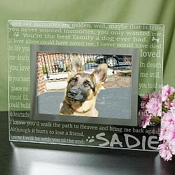 Personalized Glass Pet Memorial Picture Frame