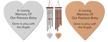 Young Child - Heart Personalized Memorial Wind Chimes