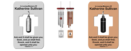Urn Memorial Wind Chimes - Holy Cross Personalized