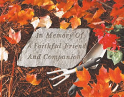 In Memory of a Faithful Friend and Companion Memorial Garden Stone