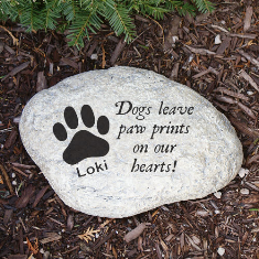 Paw Prints On Our Hearts Dog Memorial Garden Stone